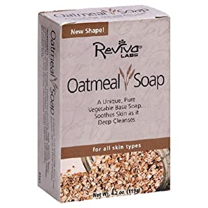 Reviva Labs Oatmeal Soap, 4.2-Ounce (Pack of 6)