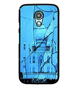 PrintDhaba Taj-Mahel D-2843 Back Case Cover for MOTOROLA MOTO G2 (Multi-Coloured)