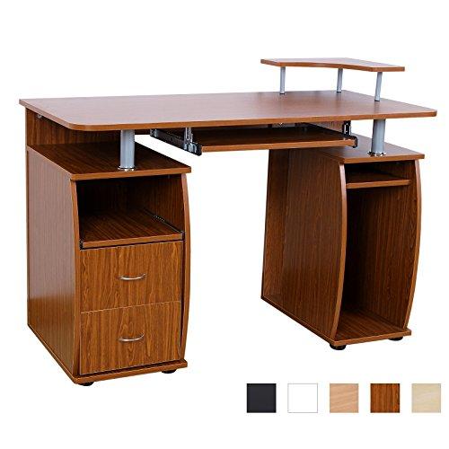 songmics bureau informatique table informatique meuble de bureau pour ordinateur portable. Black Bedroom Furniture Sets. Home Design Ideas
