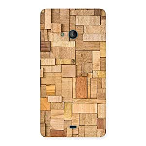 Stylish Wood Blocks Pattern Back Case Cover for Lumia 540