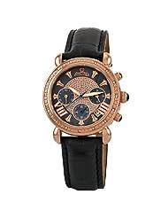 "JBW-Just Bling Women's JB-6210L-G ""Victory"" Leather Diamond Chronograph Watch"