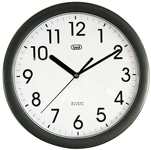Trevi OM 3301 - Orologio da Parete - Quarzo silenzioso - 25cm - Nero