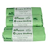 All-Green 6 Litre Biobag Compostable Kitchen Caddy Liners...