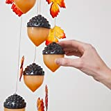 Bits and Pieces Home and Garden Décor-Glowing Acorn Solar Chimes Dangler - Hang in a Window or Outdoors in Your Garden