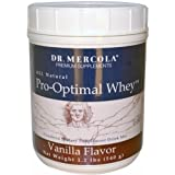 Dr. Mercola Pro-Optimal Whey Vanilla - All Natural - Powdered Dietary Supplement Drink Mix - No Artificial Sweeteners Or Flavors - 1.2 lb Jar