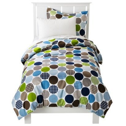Dot Fun 4 piece Boy's Toddler Bedding Set with sheets - 1