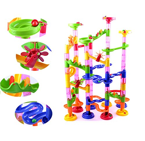 Usstore Kid Baby 105PCS DIY Construction Marble Race Run Maze Balls Track Building Blocks Toy Gift (Track Magic Cleaner compare prices)
