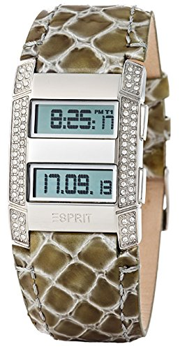 Esprit Damen-Armbanduhr Viva Centauri White Digital Leder ES101242705