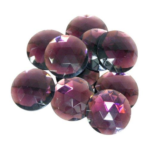 Gem Stones, Synthetic Amethyst - 10Pcs