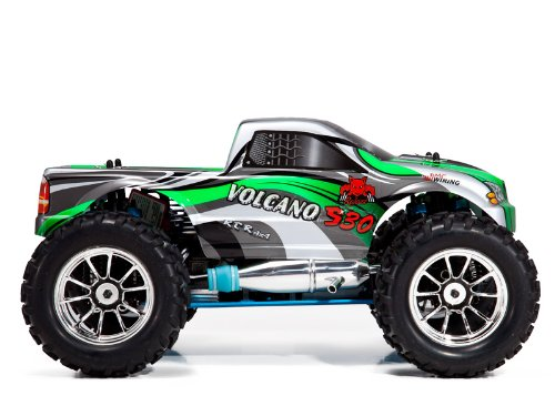 REDCAT RACING VOLCANO ~ NEW ~ RADIO CONTROL ~ S30 MONSTER TRUCK ~ 1/10 SCALE NITRO ~ GREEN