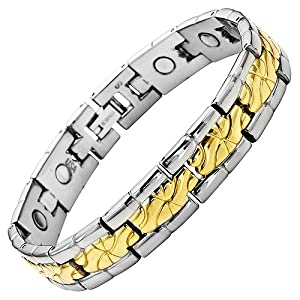 Willis Judd New Mens Titanium Magnetic Bracelet in Velvet Box with Free Link Removal Tool