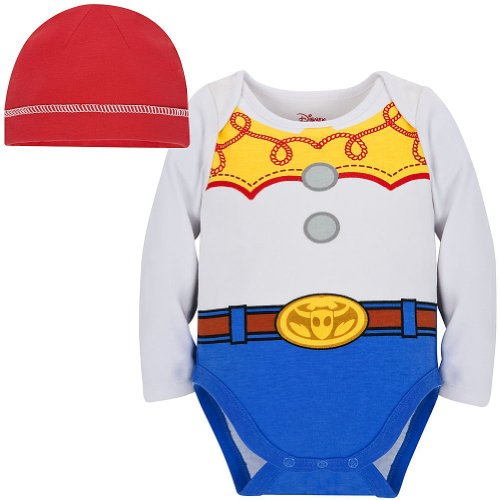 Disney Store Toy Story Jessie Onesie Costume Bodysuit Size 3-6 Months With Hat