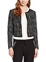 Tom Tailor Denim Americana Mujer short structured blazer/504 (Negro)