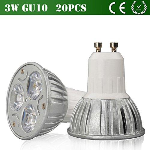 Vlunt 20Pcs Environmentally Friendly Led Lamp Cup 3W 6W 8W 9W Led Light Gu10 Mr16 Base Dimming