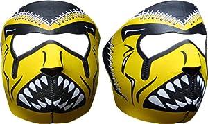 Neoprene Face Mask Football Black & Gold by PrivateLabel