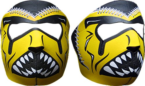 Neoprene Face Mask Football Black & Gold by PrivateLabel