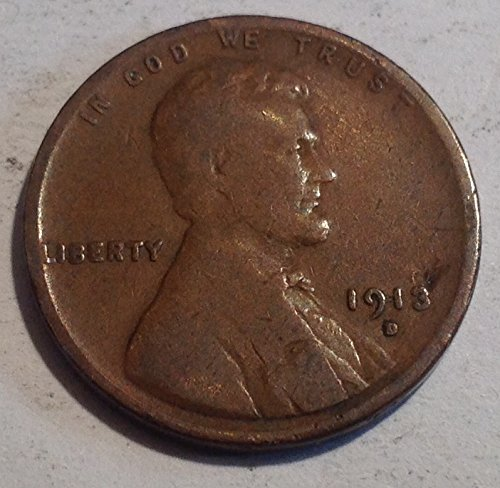 1913 D Lincoln wheat D Penny Good Detials (1913 D Penny compare prices)
