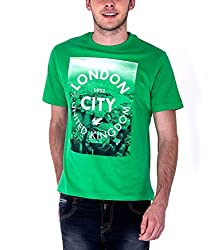 Sera Mens City Graphic Tee (ME1011_Green _Medium)