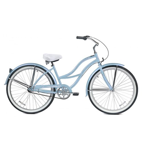 Micargi Tahiti NX3 Beach Cruiser Bike, Baby Blue, 26-Inch