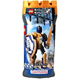 Lego Year 2005 Knights Kingdom Series 7 1/2 Inch Tall Figure Set #8791 Knight Of The Wolf Sir Danju With Shield...