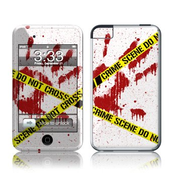 Apple iPod Touch 2G 3G Design Modding Skin Wallpaper - Crime Scene White