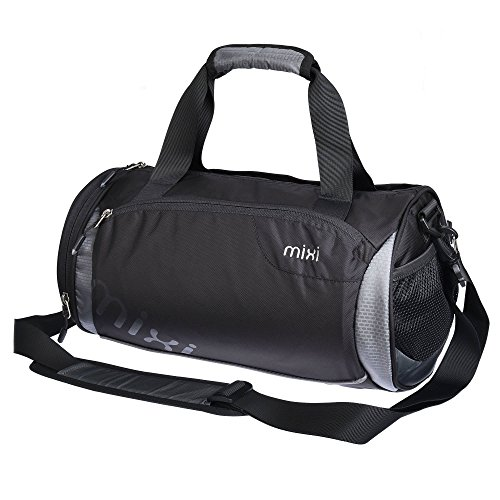 "NUOVO! Mixi Trendsetter Gym Bag / Carry On Sport Travel Bag a tracolla, zip Compartimenti (Stonehenge grigio, 18"")"