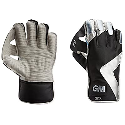 GM 303 Wicket Keeping Gloves, Youth  (Silver/Black)