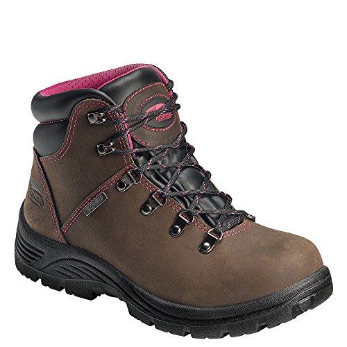 Avenger Safety Footwear Women's 7125 Steel-Toed Work Boot,Brown,6 M US