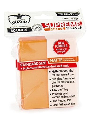 Supreme Matte Orange Sleeves (80) - 1