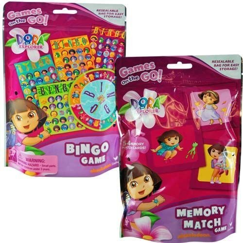 Dora Bingo & Memory Match in Foil Bag