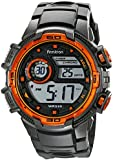 Armitron Sport Men's 40/8347GRY Orange Accented Digital Chronograph Grey Resin Strap Watch