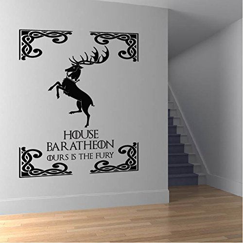 Casa Baratheon Wall Sticker Game Of Thrones Adesivo Art disponibile in 5 dimensioni e 25 colori Extra-Small Rosso fragola