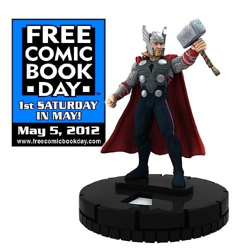 Free Comic Book Day THOR The Mighty Avenger Limited edition HeroClix Marvel Game Figure WizKids NECA Toys - 1
