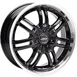 "American Racing Haze AR363 Gloss Black Wheel with Machined Lip (16x7""/5x115mm)"
