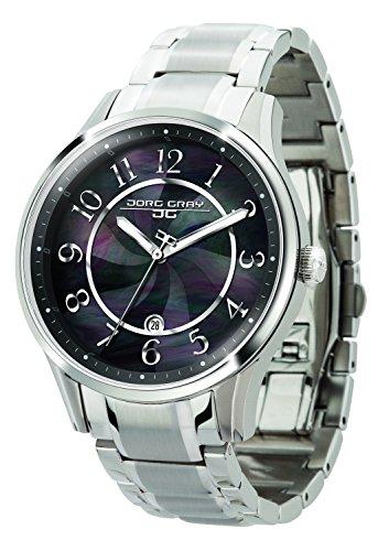 Jorg Gray JG1200-11 - Reloj analógico de cuarzo para mujer, correa de acero inoxidable color plateado