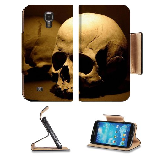 Skull Human Bone Death Design Samsung Galaxy S4 Flip Cover Case With Card Holder Customized Made To Order Support Ready Premium Deluxe Pu Leather 5 Inch (140Mm) X 3 1/4 Inch (80Mm) X 9/16 Inch (14Mm) Luxlady S Iv S 4 Professional Cases Accessories Open Ca