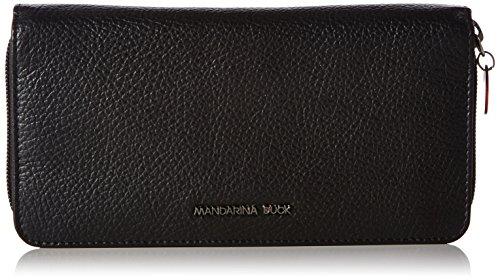 mandarina-duckmellow-leather-portafoglio-donna-nero-3x10x20-cm-b-x-h-x-t