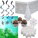 Prextex Snowflake Themed Decoration Combo Great Christmas Decorations for Frozen Winter Holiday Decorations
