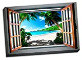 """Private Beach View 24""""x36"""" Wall Decoration Landscape Art Image Printed on Canvas Stretched and Framed Ready to Hang from Picture it on Canvas"""