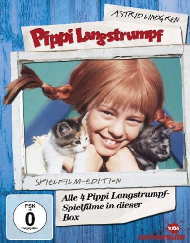 Pippi Langstrumpf - Spielfilm-Box (4 DVDs, Remastered)