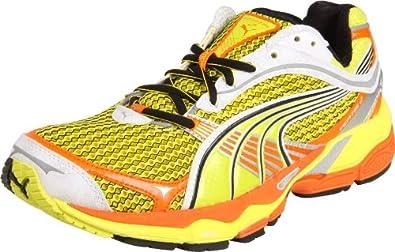 PUMA Men's Complete Ventis II Running Shoe, Fluorescent Yellow/Team Orange/White, 11.5 D US