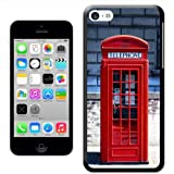Fancy A Snuggle 'The Original London Phone Box' Hard Case Clip On Back Cover for Apple iPhone 5C