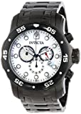 Invicta Mens Pro Diver Scuba Swiss Chronograph White MOP Dial Black IP Bracelet Watch 80076