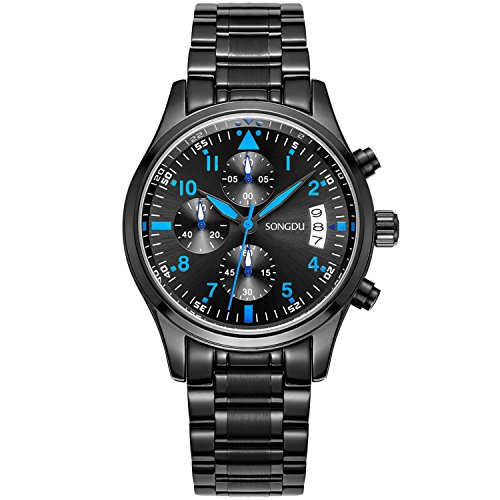 songdu-mens-9202-scalers-multifunctional-stopwatch-with-date-display-and-black-stainless-steel-strap