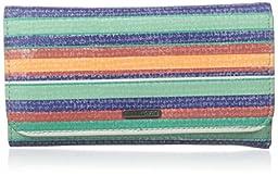 Roxy My Long Eyes Wallets Clutch, Yandai Stripe Combo Eclipse, One Size