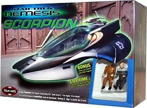 Star Trek Nemesis Scorpion Fighter Snap Together Model Kit w/ Bonus Picard and Data Figures
