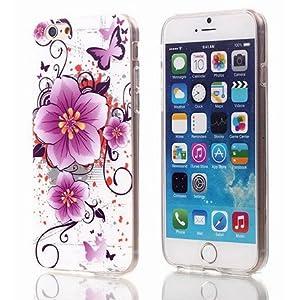 GrandEver Farbe Mädchen Handy-Tasche Hülle für Apple iPhone6 4.7, Frauen Bemalt Telefon-Kasten für Apple iPhone Hülle für iPhone6 4.7, Blumen Telefon Schutzhülle für iPhone6 4.7 Mini Blumen