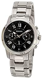 Fossil Grant Chronograph Black Dial Mens Watch - FS4736