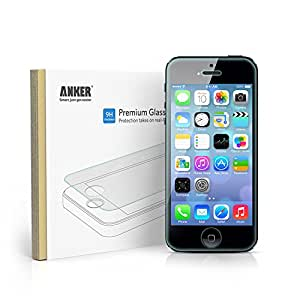 [Scratch Terminator] Anker® Tempered-Glass Screen Protector for iPhone 5S / iPhone 5C / iPhone 5 Premium Crystal Clear - Industry-High 9H Hardness