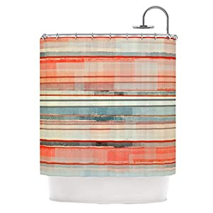 Carollynn tice quot patton quot orange teal shower curtain 69 by 70 inch